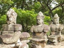 Αρχαίο άγαλμα του Khmer Θεού Στοκ Φωτογραφία