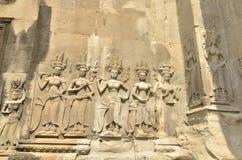 Αρχαίο άγαλμα Wat Angkor Στοκ Εικόνες