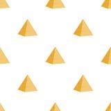 Αρχαίο αιγυπτιακό άνευ ραφής σχέδιο πυραμίδων αρχιτεκτονική παλαιά Επίπεδο ύφος κινούμενων σχεδίων Στοκ φωτογραφία με δικαίωμα ελεύθερης χρήσης