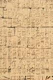 Αρχαίο αιγυπτιακό ιερογλυφικό bas-ανάγλυφο Στοκ εικόνα με δικαίωμα ελεύθερης χρήσης