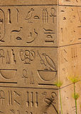 αρχαίο αιγυπτιακό hieroglyphics Στοκ Φωτογραφία