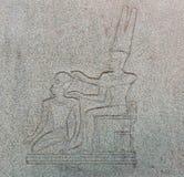 Αρχαίο αιγυπτιακό hieroglyphics Στοκ Εικόνα