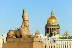 αρχαίο αιγυπτιακό sphinx Στοκ Φωτογραφίες