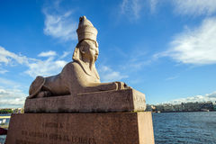Αρχαίο αιγυπτιακό sphinx, ST Petersberg, Ρωσία Στοκ Εικόνες