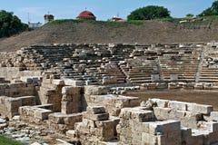 Αρχαίο αμφιθέατρο στη archeological περιοχή της Larissa Ελλάδα Στοκ φωτογραφία με δικαίωμα ελεύθερης χρήσης