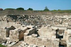 Αρχαίο αμφιθέατρο στη archeological περιοχή της Larissa Ελλάδα Στοκ εικόνα με δικαίωμα ελεύθερης χρήσης