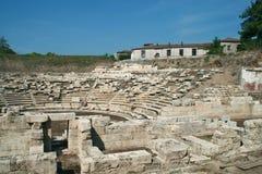 Αρχαίο αμφιθέατρο στη archeological περιοχή της Larissa Ελλάδα Στοκ φωτογραφίες με δικαίωμα ελεύθερης χρήσης