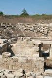 Αρχαίο αμφιθέατρο στη archeological περιοχή της Larissa Ελλάδα Στοκ Εικόνα