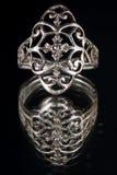Αρχαίο ασημένιο δαχτυλίδι Στοκ Εικόνες