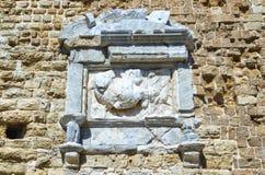 Αρχαίο, αστικό, μεσαιωνικό, θαλάσσιο, ενετικό νησί Κρήτη, πόλη τεμάχια Ηρακλείου, Ελλάδα Kules φρουρίων ενός αρχαίου στοκ φωτογραφία με δικαίωμα ελεύθερης χρήσης