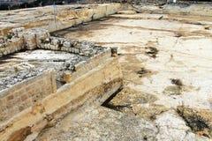Αρχαίο λατομείο των σταυροφόρων κοντά στην Ιερουσαλήμ Στοκ Φωτογραφίες