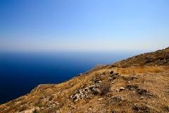 Αρχαίο βουνό Thira Στοκ φωτογραφία με δικαίωμα ελεύθερης χρήσης