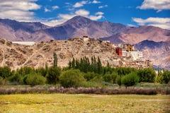 Αρχαίο βουδιστικό μοναστήρι Thiksey, leh-Ladakh Στοκ εικόνα με δικαίωμα ελεύθερης χρήσης