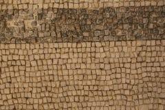 Αρχαίο βυζαντινό μωσαϊκό πατωμάτων από τις εκκλησίες της πόλης Στοκ Φωτογραφίες