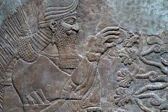 Αρχαίο γλυπτό Babylonia και Assyria από τη Μεσοποταμία στοκ φωτογραφία