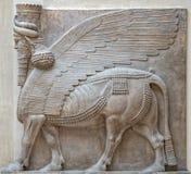Αρχαίο γλυπτό Babylonia και Assyria από τη Μεσοποταμία στοκ φωτογραφίες