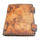 αρχαίο δέρμα κάλυψης βιβλ Στοκ Φωτογραφίες