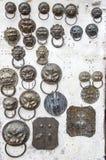 Αρχαίο δαχτυλίδι πορτών στο πολιτιστικό κατάστημα λειψάνων, chengdu, Κίνα Στοκ εικόνα με δικαίωμα ελεύθερης χρήσης