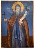 Αρχαίο εικονίδιο από το μοναστήρι του Panayia Kera.Island της Κρήτης Στοκ Φωτογραφίες