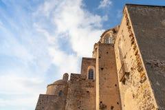Αρχαίο εξωτερικό Aragonese Castle, νησί ισχίων Στοκ φωτογραφίες με δικαίωμα ελεύθερης χρήσης