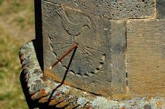 αρχαίο ηλιακό ρολόι Στοκ Εικόνα