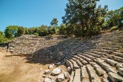 Αρχαίο θέατρο στην παλαιά πόλη Phaselis, Antalya Destrict, Τουρκία Στοκ Φωτογραφίες