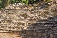 Αρχαίο θέατρο στην παλαιά πόλη Phaselis, Antalya Destrict, Τουρκία Στοκ Εικόνα