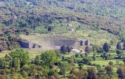 Αρχαίο θέατρο Dodoni, Epirus, Ελλάδα Στοκ Εικόνες