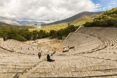 Αρχαίο θέατρο Epidaurus, Ελλάδα στοκ εικόνα με δικαίωμα ελεύθερης χρήσης