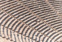 Αρχαίο θέατρο Epidaurus, κινηματογράφηση σε πρώτο πλάνο της Αργολίδας, Ελλάδα στοκ φωτογραφίες με δικαίωμα ελεύθερης χρήσης