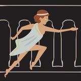 Αρχαίο θηλυκό τρέξιμο αθλητών Στοκ φωτογραφία με δικαίωμα ελεύθερης χρήσης