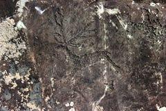 αρχαίο διάνυσμα θέματος βράχου εικονογραμμάτων ζωγραφικής απεικόνισης μορφής Στοκ Φωτογραφίες
