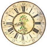 Αρχαίο διακοσμητικό πρόσωπο ρολογιών που απομονώνεται στο λευκό Στοκ εικόνα με δικαίωμα ελεύθερης χρήσης