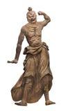 Αρχαίο ιαπωνικό άγαλμα που απομονώνεται Στοκ φωτογραφία με δικαίωμα ελεύθερης χρήσης