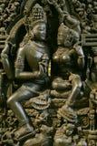 αρχαίο ινδικό γλυπτό στοκ φωτογραφίες