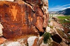 αρχαίο ινδικό petroglyph Στοκ εικόνα με δικαίωμα ελεύθερης χρήσης