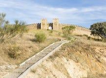 Αρχαίο κάστρο σε Arraiolos, περιοχή vora à ‰, Πορτογαλία Στοκ Εικόνες