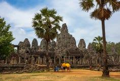 Αρχαίο κάστρο στο Angkor Wat Καμπότζη Στοκ εικόνες με δικαίωμα ελεύθερης χρήσης