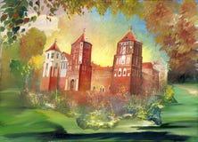 αρχαίο κάστρο ελεύθερη απεικόνιση δικαιώματος