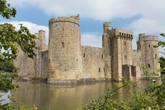 Αρχαίο κάστρο Bodiam στο Σάσσεξ Αγγλία UK Στοκ Εικόνες