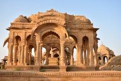 Αρχαίο κενοτάφιο στο bada baag Jaisalmer Rajasthan Ινδία Στοκ εικόνα με δικαίωμα ελεύθερης χρήσης