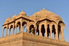Αρχαίο κενοτάφιο στο bada baag Jaisalmer Rajasthan Ινδία Στοκ εικόνες με δικαίωμα ελεύθερης χρήσης