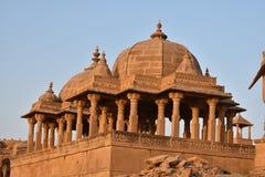 Αρχαίο κενοτάφιο στο bada baag Jaisalmer Rajasthan Ινδία Στοκ φωτογραφίες με δικαίωμα ελεύθερης χρήσης