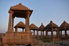 Αρχαίο κενοτάφιο στο bada baag Jaisalmer Rajasthan Ινδία Στοκ Εικόνες