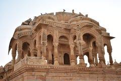 Αρχαίο κενοτάφιο στο bada baag Jaisalmer Rajasthan Ινδία Στοκ Εικόνα