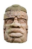 αρχαίο κεφάλι olmec Στοκ Εικόνες