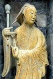 Αρχαίο κινεζικό άγαλμα μέσα σε κινεζικό Stupa στο ναό Wat Arun Στοκ Φωτογραφίες