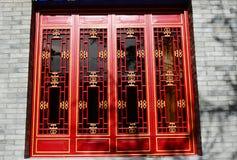 αρχαίο κινεζικό παράθυρο διακοσμήσεων Στοκ Φωτογραφία