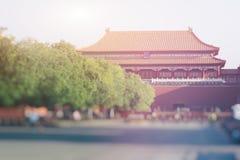 Αρχαίο κινεζικό παλάτι αρχιτεκτονικής, Πεκίνο, Κίνα Στοκ Φωτογραφία