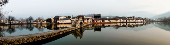 Αρχαίο κινεζικό χωριό Στοκ εικόνες με δικαίωμα ελεύθερης χρήσης